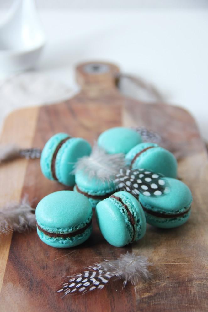 Macarons mit Zartbitterganache